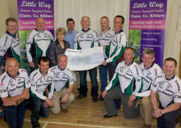 Clane Wheelers cycled from Mizen to Malin to raise much needed funds for Little Way Cancer Support Centre