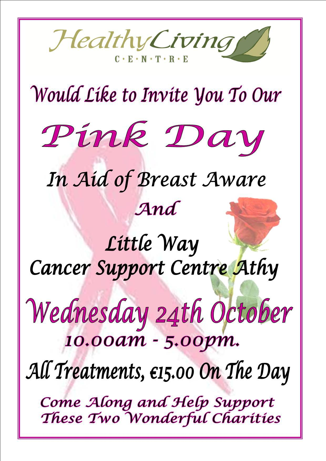 """Healthy Living Centre """"Pink Day"""""""